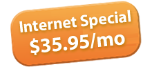 Internet Special $35.95/month